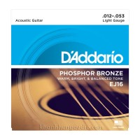 Dây đàn Guitar Acoustic D'Addario EJ16