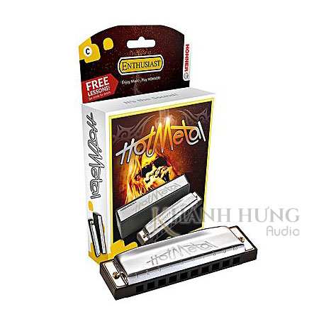 Harmonica Hohner Hot Metal C - Silver